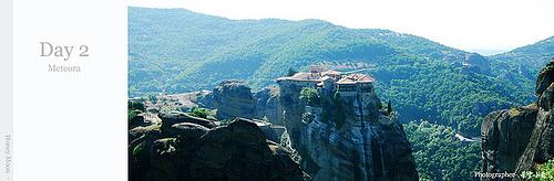 【國外旅遊】2007蜜月希臘之旅–Day 2 天空之城Meteora–Meteoron修道院 – 1